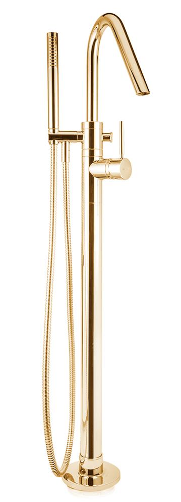 bath mixer floor mount Form A, gold