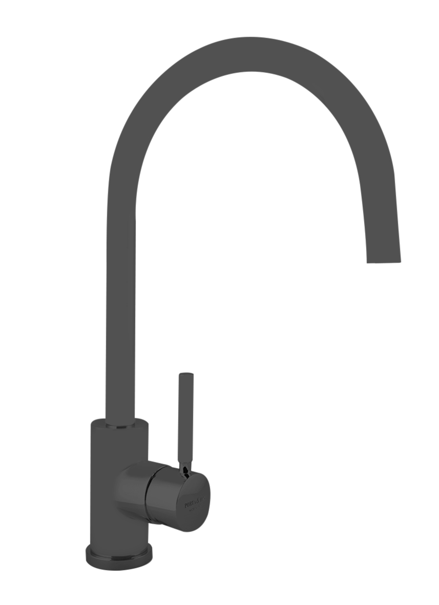 kitchen mixer Form A with movable spout, mat black