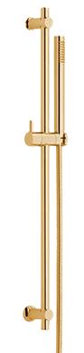 Brass sliding rail complete, gold
