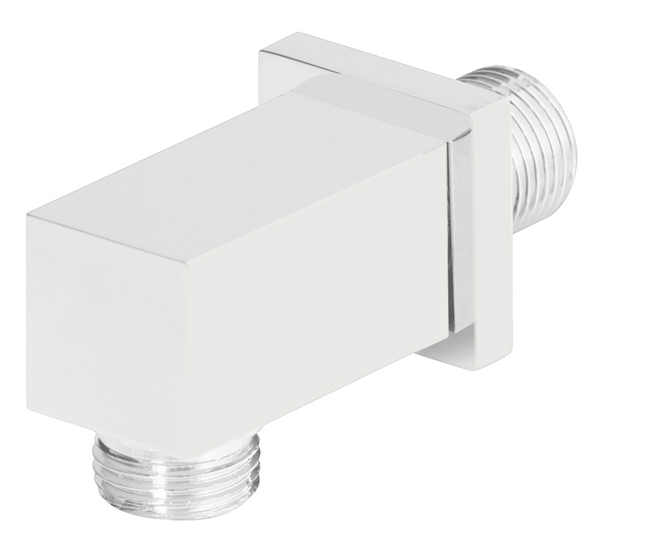 "1/2"" M x 1/2"" M water connection, mat white"