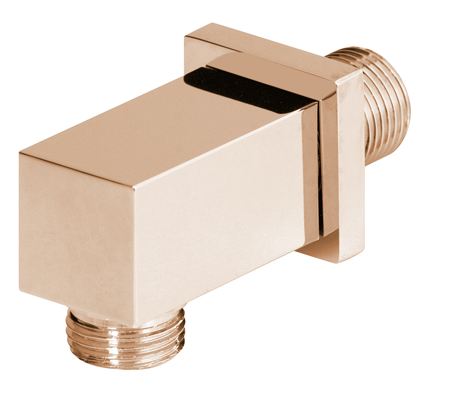 "1/2"" M x 1/2"" M water connection, pink gold"