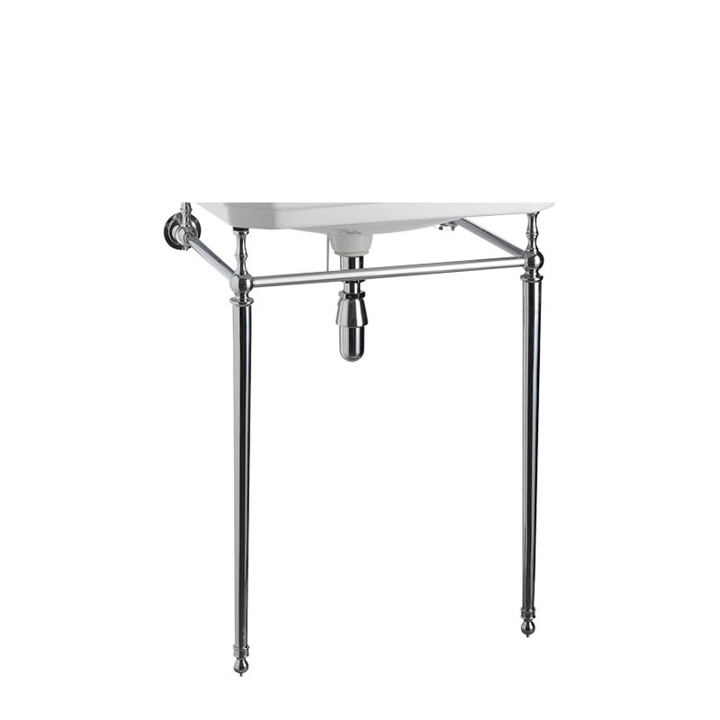 Burlington 65 cm Cloakroom Basin Wash Stand Chrome