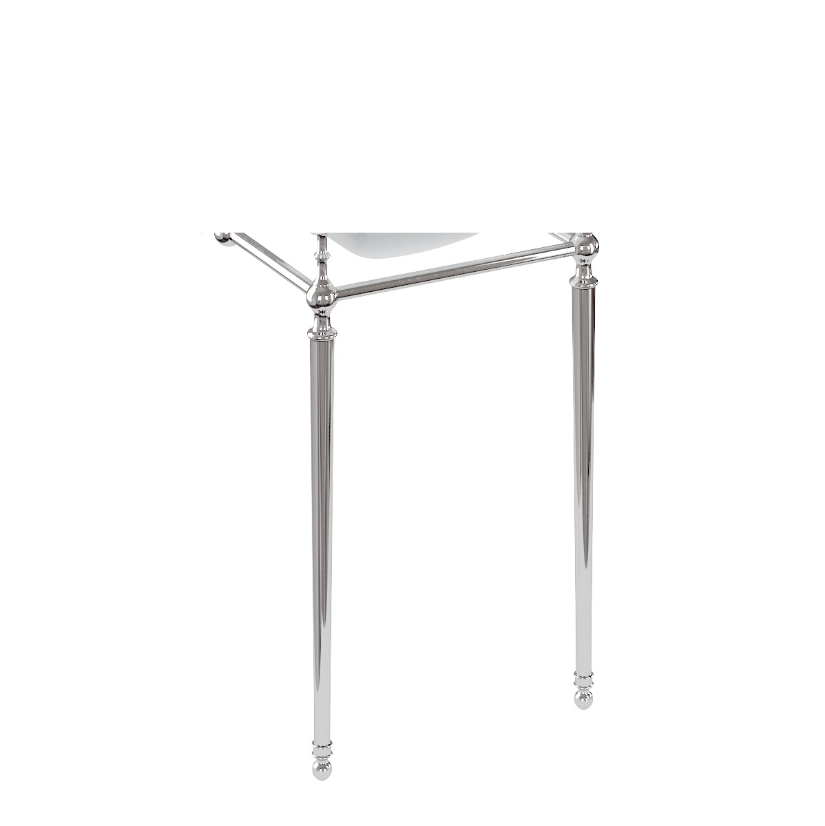 Burlington 50 cm Cloakroom Basin Wash Stand Chrome