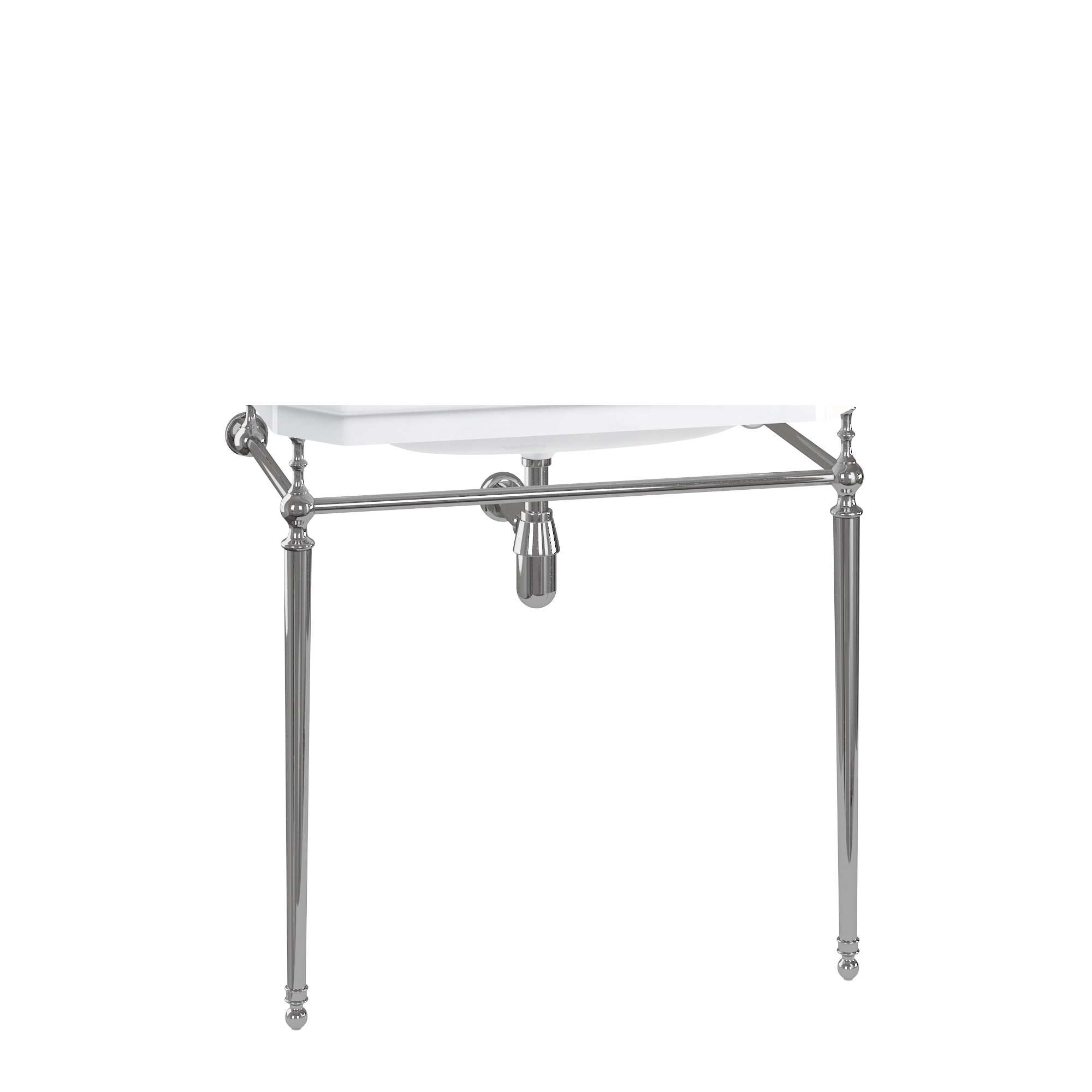 Burlington 80 cm Cloakroom Basin Wash Stand Chrome