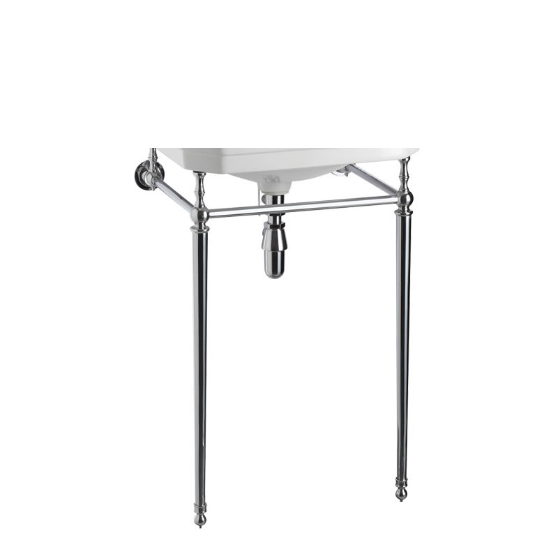 Burlington 56 cm Round Cloakroom Basin Wash Stand Chrome