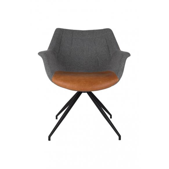 käsinojallinen tuoli Doulton Vintage Brown (fire retardant)