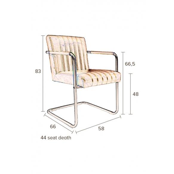 käsinojallinen tuoli Stitched Velvet, Navy