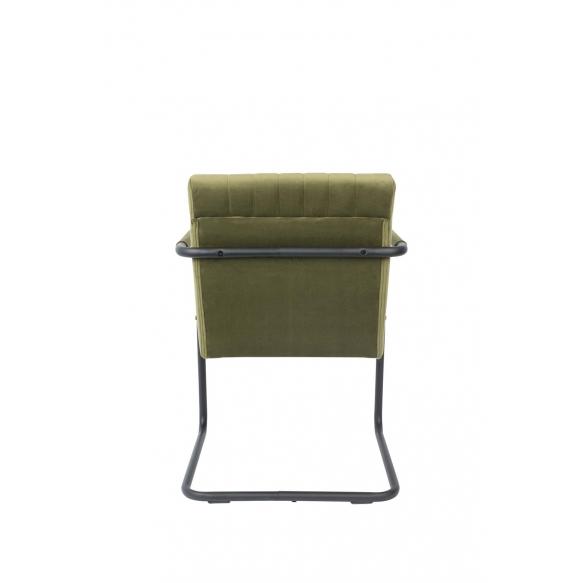 käsinojallinen tuoli Stitched Velvet, Olive