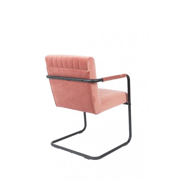 käsinojallinen tuoli Stitched Velvet, Pink