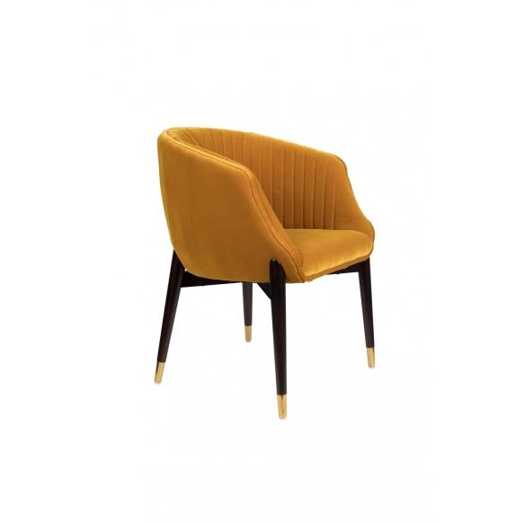 käsinojallinen tuoli Dolly Ochre (fire retardant)