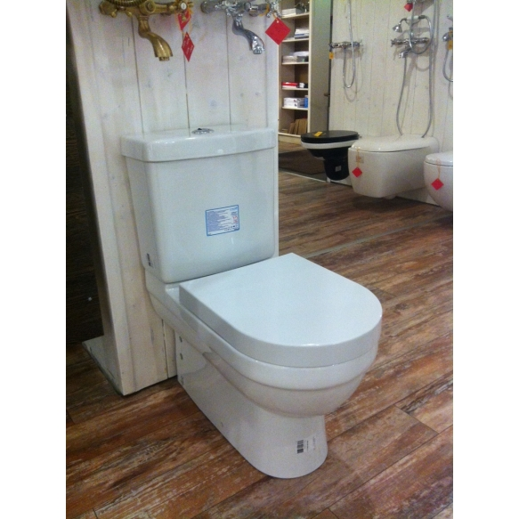 VITROYA WC kompakt, 2-süsteemne, universaalne trapp ilma istmeta (VT360+VT410+IT5030)