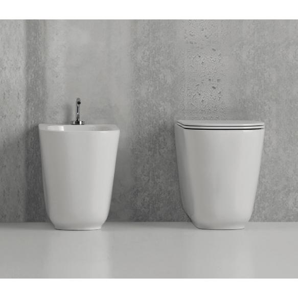rimless wc pott Tribeca, põrandale paigaldamiseks, ühendub wc raamiga