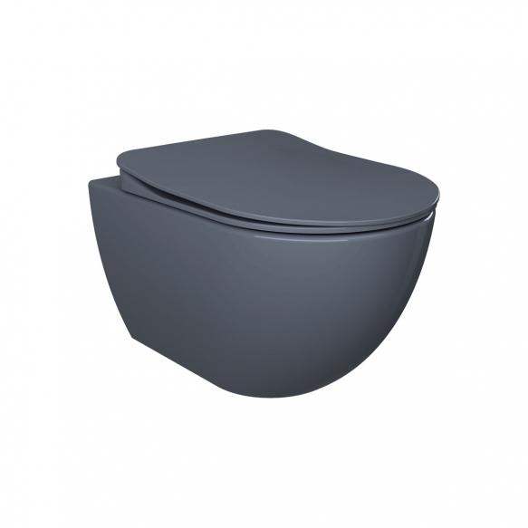 aeglaselt sulguv (soft close) WC iste, matt basalt, mudelid FE320, FE321