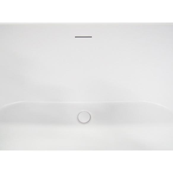 eraldiseisev akrüülvann Libero, matt valge, 178x80x58 cm