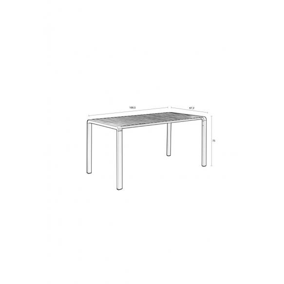 Ulkotilan pöytä Vondel 168,5X87 Green