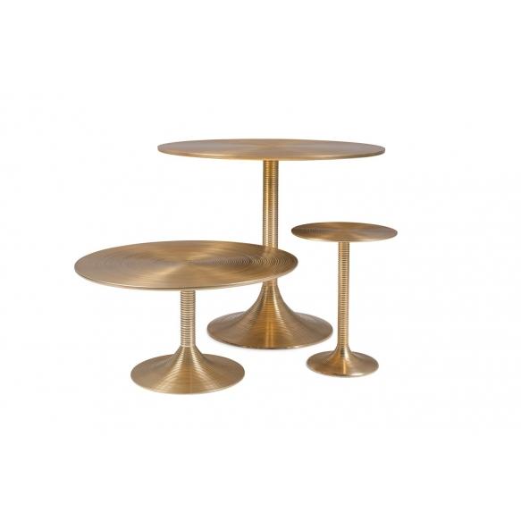 kahvipöytä Hypnotising Round Gold