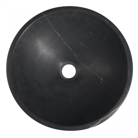 valamu Block 40 cm, poleeritud matt must marmor