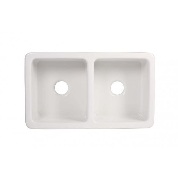 keraamiline köögivalamu Surrey, 80x47 cm, valge