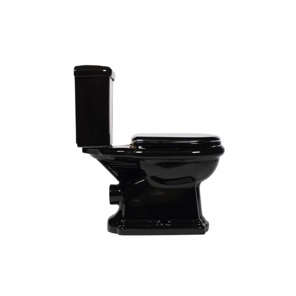 must RETRO wc-kompakt, tahajooks, kuldne loputusnupp (101304 + 108104 750991)