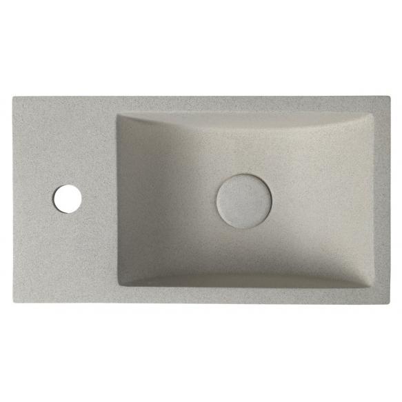 Pesuallas Interia Crest L, 400x220x100mm, vasen, beige