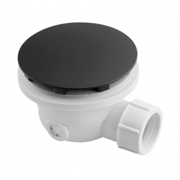 Suihkualtaan pohjaventtiili Interia VR836N, Ø 90mm, mattamusta