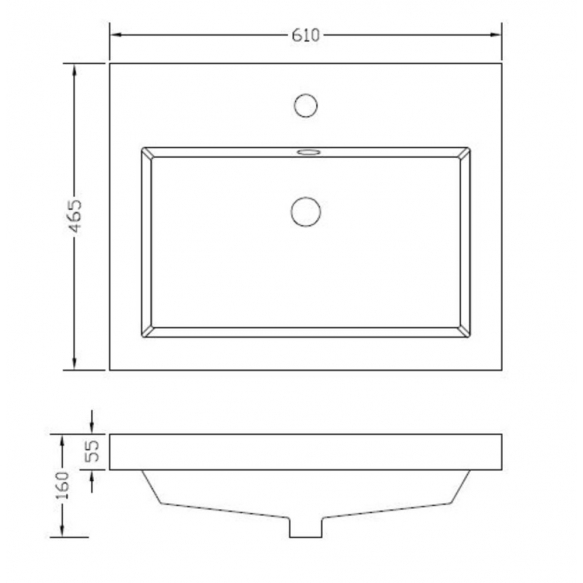 tasoallas Interia Vision, 60x46 cm, valkoinen
