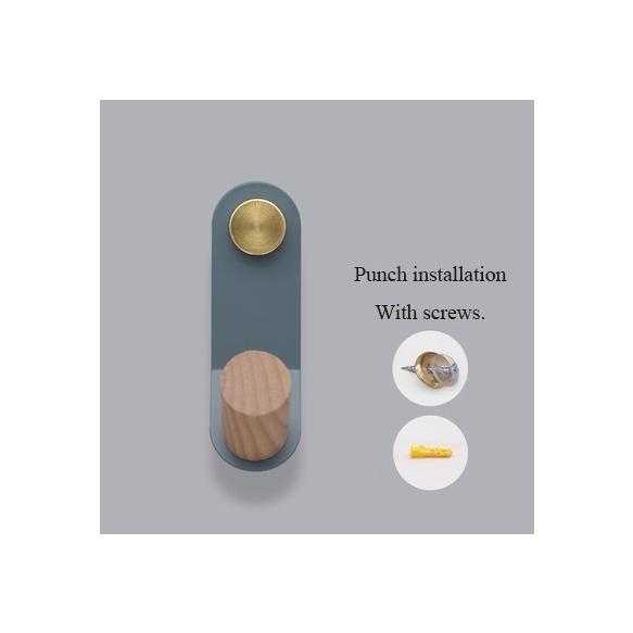 nagi 4x13 cm tumesinine/läikiv messing, värvitud metall+puit
