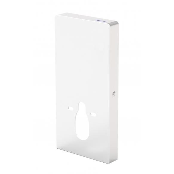 sensoriga wc raam viimistletud seinale paigaldamiseks, valge klaas