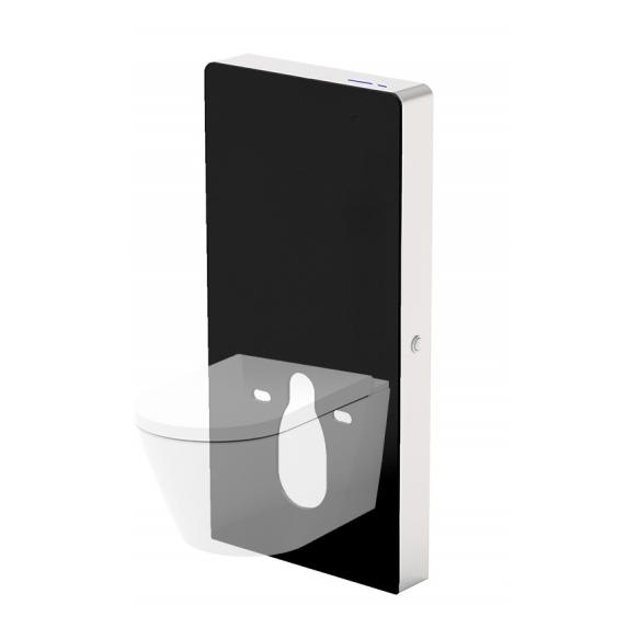 sensoriga wc raam viimistletud seinale paigaldamiseks, must klaas
