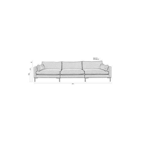 4.5-paikkainen sohva Summer Anthracite