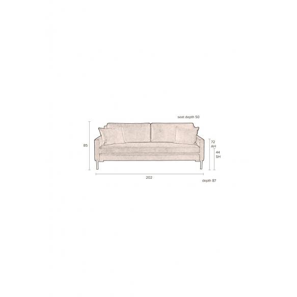 3-paikkainen sohva Houda Anthracite
