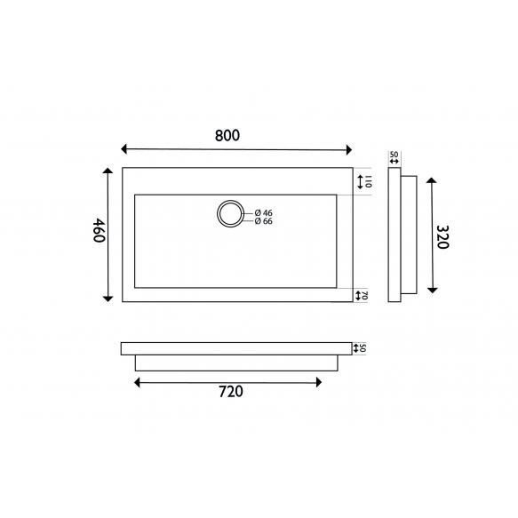 naturaalselt looduskivist mööblivalamu 80x46x5 cm, ilma segistiavata
