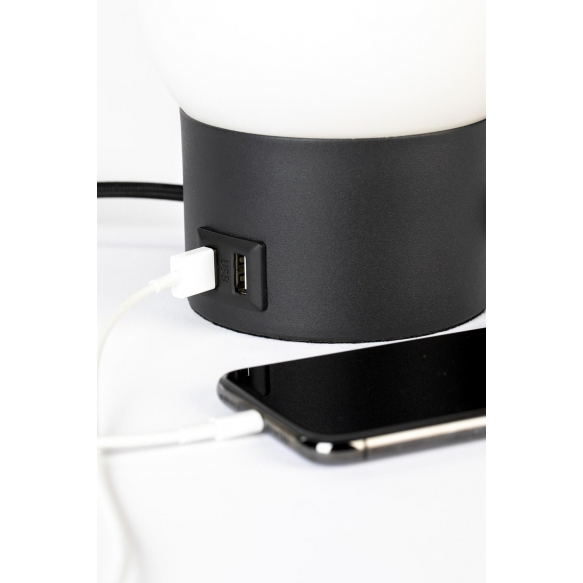 Pöytälamppu Urban Charger Black