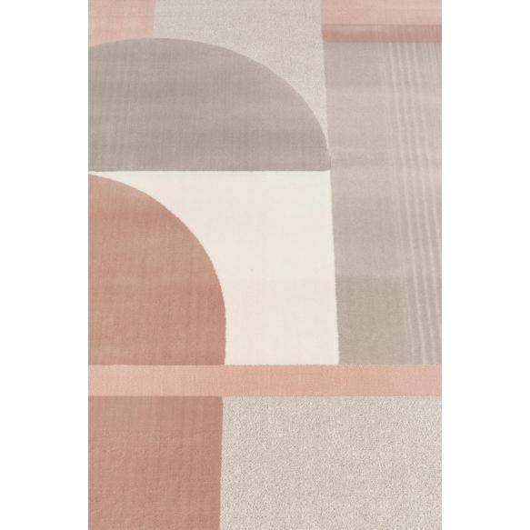 Matto Hilton 160X230 Grey/Pink