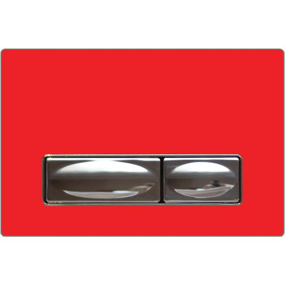 loputusnupp Design, punane, metall+klaas
