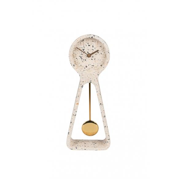 kello Pendulum Time Terrazzo White