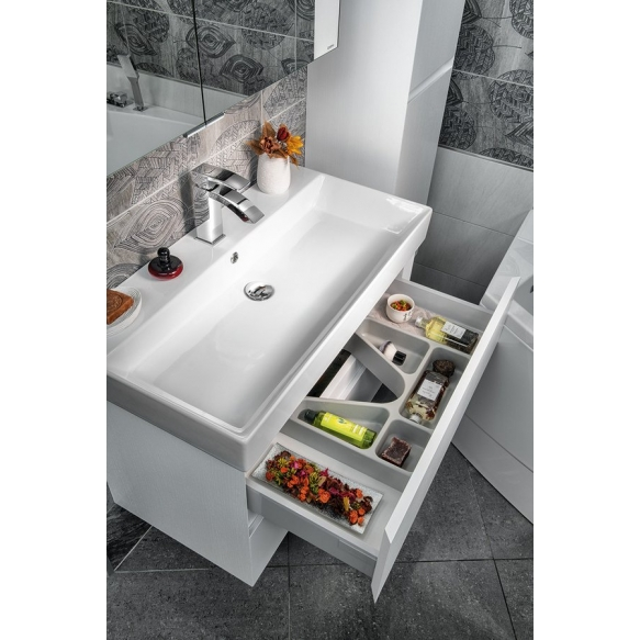 Allaskaappi Interia Filena, 950x515x430mm, valkoinen