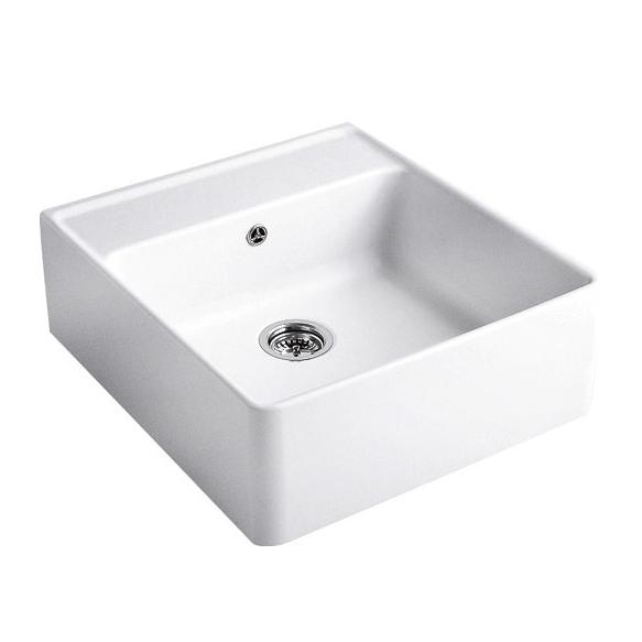 Keittiöallas Villeroy & Boch Butler Sink 60 Alpin White valkoinen CeramicPlus + pohjaventtiili 94060000