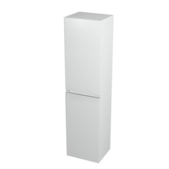 korkea kaappi  Interia Largo pesukorviga 35x140x30 cm vasen/oikea, valkoinen