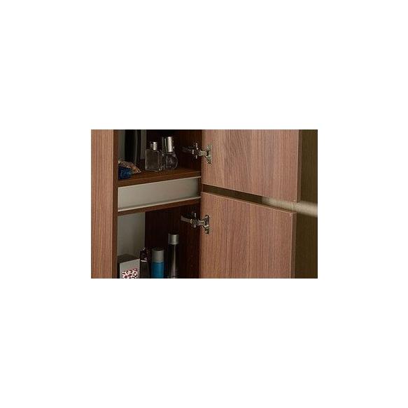 korkea kaappi  Interia Largo 40x140x20 cm vasen/oikea, Silver Oak