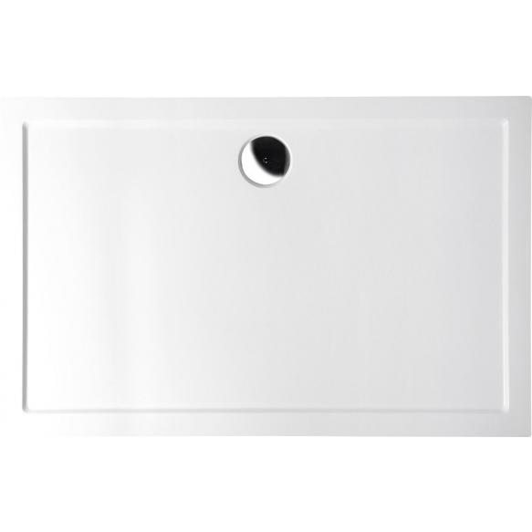suihkukulman allas Interia 71565-SET, vasen, kivimassa, 100x70cm, valkoinen (71565 + 71583 + AWG07 + 1711C)