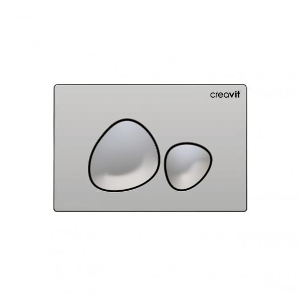 Seinä WC-istuinpaketti Creavit MO320, täydellinen toimitus, - kromi huuhtelupainike