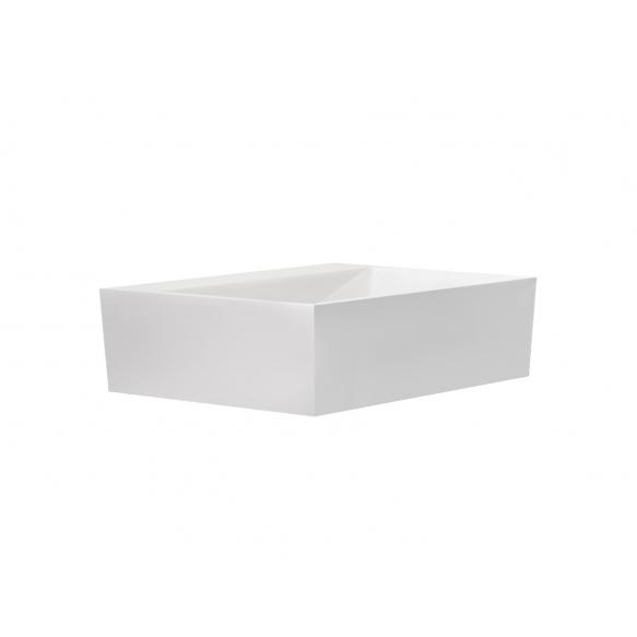 kiviallas Interia Verona, 500x400x150 mm, kiiltävä valkoinen