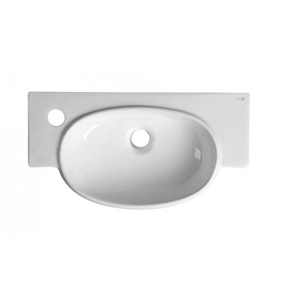 pesuallas Interia Ave, vasenkätinen, valkoinen, seinään kiinnitettävä, 500 X 275 X 130 mm