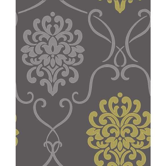 Accents Damask Lime/Grey