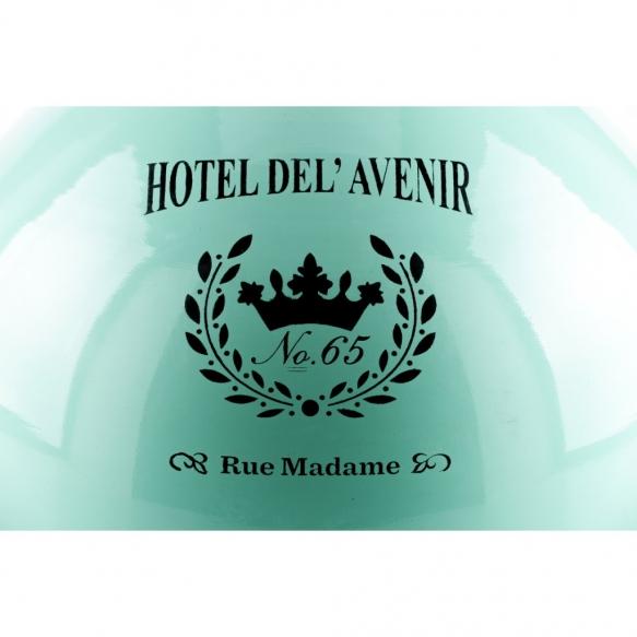 metallinen vintage-kattolamppu Hotel nro 65