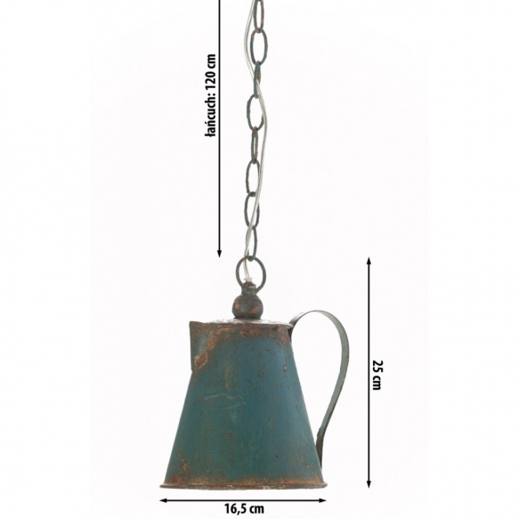 metallinen vintage-kattolamppu Watering