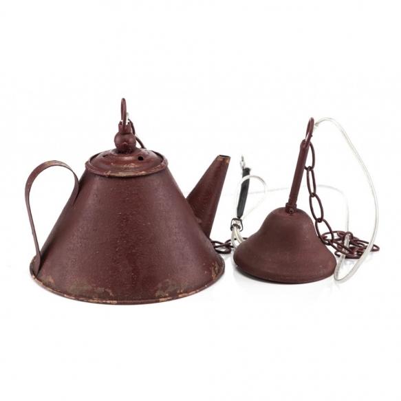 metallinen vintage-kattolamppu Teekanne