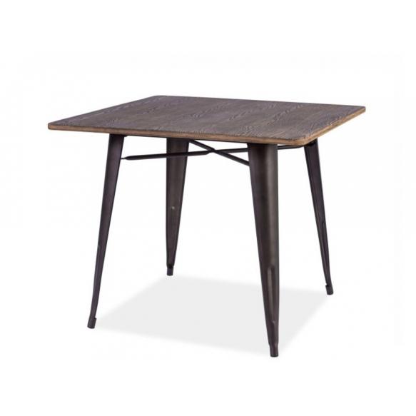 pöytä Industrial, puu+metalli