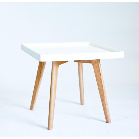 kahvipöytä Nordic, valkoinen+tammi